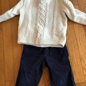 Sweater & corduroys